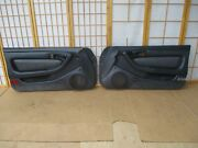 90-93 Toyota Celica Gts Left And Right Black And Gray Leather Power Door Panel Set