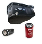 Ppe Black Deep Oil Pan With Oil And Transmission Filters For 11-16 Gm 6.6l Duramax