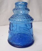 Vintage Wheaton Embossed Cobalt Blue Bottle Featuring Cape May Bitters