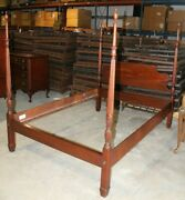 Mid-century Mahogany 4 Piece Drexel Full Bedroom Furniture Set Queen Anne Style
