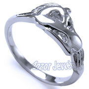 18k Solid White Gold Unicorn Ring, Choose A Ring Size 4 To 9.5 R1324