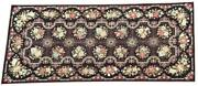 Antique 19thc French Aubusson Savonnerie Tapestry Victorian Needlepoint 13x5 Rug