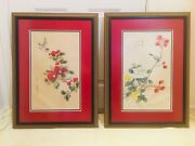 Antique Chinese Water Colors On Rice Paper Early 20th Century Set Of Two