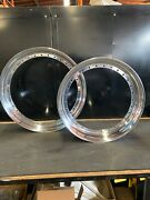 21andrdquo 18andrdquo 2-piece Polished Motorcycle Wheel Hoops For Harley Baggers Touring