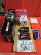 Chevy 350/5.7 L82 Engine Kit Stage 1 Forged Pistons+moly Rings+bearings 1969-79