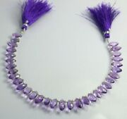 4 Inches Strand Aaa Natural Amethyst Micro Cutting Marquise 5x10 Mm Brazil