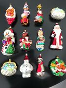 Gorgeous Lot Of 12 Christopher Radko Christmas Ornaments Signed