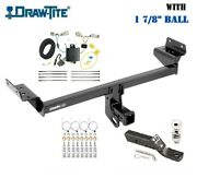 Class 3 Trailer Hitch Tow Package W 1 7/8 Ball For 16-18 Lincoln Mkx All Styles