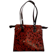 Swank Bags Ladies Genuine Leather Tote Bag Hand Made And Hand Printed Ab2019-5