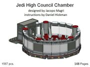 Custom For Lego Star Wars Jedi High Council Chamber - Instruction Manual Only