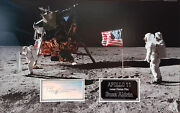 Buzz Aldrin Signed 11.5x18 Apollo 11 Mission Photo Display 2nd Man On Moon Coa