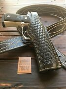Vintage Alfonsos Basketweave Leather Suede Lined Holster For Beretta 92f 96d