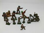 11 Vintage Barclay Manoil Lead Army Soldiers Usa 747 England