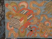 19th Century Chinese Qing Dynasty Forbidden Stitch Embroidered Sleeve