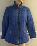 Charter Club Rich Ceruleanblue Quilted Jacket Size Xl Nwt