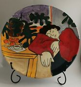 Ej Gold Dreaming Women 13 Inches Ceramic Plate