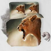 Tiger Tooth Lion 3d Printing Duvet Quilt Doona Covers Pillow Case Bedding Sets