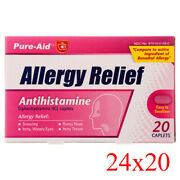 Pure-aid Medicine Allergy Relief 12 Tablets/pack 24-pack Pharmacy Cheap