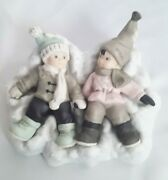 2000 Enesco Snow Angels In Disguise 722804 Kim Anderson Girl Boy Limited