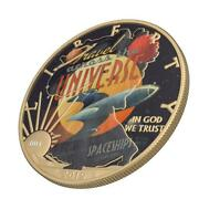Usa 2019 1 Sci-fi - Across The Universe 1 Oz Silver Coin With Varnish