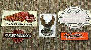 Vintage Large Harley Davidson Stickers Lot Of 5 Holographic Classic Wings Icons