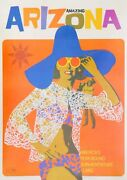 Vintage Arizona Sun Adventure Land Poster Picture Print Size A5 To A0 New