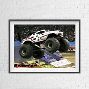 Monster Jam Truck Monster Mutt Classic Poster Picture Print Size A5 To A0 New