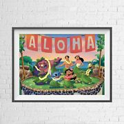 Disney Lilo And Stitch Animation Poster Picture Print Sizes A5 To A0 New