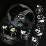 Nrg 150h Hub+gold Chrome Gen2.5 Quick Release+leather Suede Steering Wheel Black