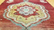 Vintage 1950-1960and039s Floral Turkish Oushak Runner 2andrsquo10 Andtimes 8and0395