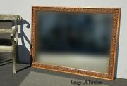 Vintage Spanish Style Ornately Carved Wall Mantle Mirror Mid Century Modern
