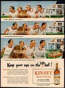 1946 Kinsey Blended Whiskey - Alcohol - Tennis - Sports - Club - Vintage Ad