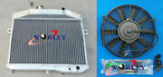 56mm Aluminum Radiator And Fan For Volvo P1800 B18 B20 Engine Gt 1959-1970