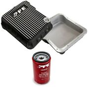 Ppe Brushed Transmission Pan And Spin On Filter For 2001-2019 Gm 6.6l Duramax