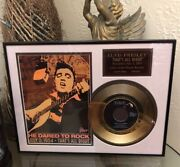 Elvis Presley 1954 14k Gold Plated Framed Matted Record Andldquothats All Rightandrdquo