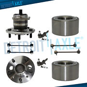 Front Rear Wheel Bearing And Hub Ball Joint Sway Bar For 2007-11 Toyota Camry Abs