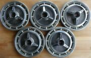 Vintage Set Of 5 Chevrolet Ss Stainless Chrome 14 Wheel Covers/hub Caps