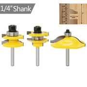 3pc 1/4 Ogee Raised Panel And Ogee Rail And Stile Cabinet Router Bit Set Woodwork