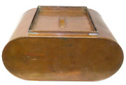 Odd Antique Copper Boiler Wash Tub With Ribbed Washboard Sides And Lid