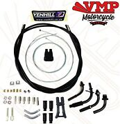 Venhill Motorcycle Push Pull Domino Dual Throttle Cable Kit 2.35 M Long