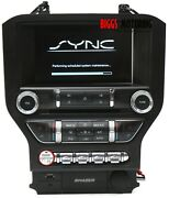 2015-2017 Ford Mustang Sync 2 Display Screen Radio Panel Cd Player Fr3t-14f239-c
