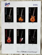 2 Gibson Guitar 1998 Calendar Posters, 18x24 Full Color, Two Sided, 12 Models