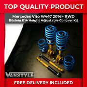Mercedes Vito W447 Fwd Rwd Height Adjustable Coilovers Bilstein B14 Lowering Kit