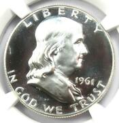 1961 Proof Franklin Half Dollar 50c Coin - Ngc Pr69 Cameo Pf69 - 1880 Value