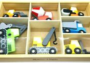 Melissa And Doug Construction Site Vehicles Wood Assorted 7 Pc. Toy