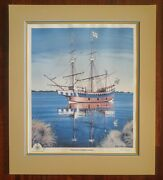 Elizabeth 2 At Shallowbag Bay Print 348/1000by Alan Cheek Signed And Numbered