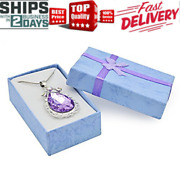 Sofia The First Amulet Teardrop Amethyst Pendant Necklace Princess Jewelry New
