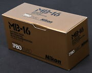 Nikon Mb-16 Battery Pack For F80 And N80 Cameras - Brand New In Box