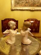 Set Of Two Lladro Angel Praying Figurines In Excellent Condition