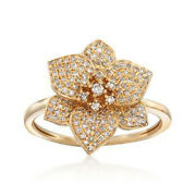 Black Friday 2.40ct Natural Diamond 14k Solid Yellow Gold Cocktail Ring Size 7
